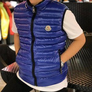 moncler blue vest new season